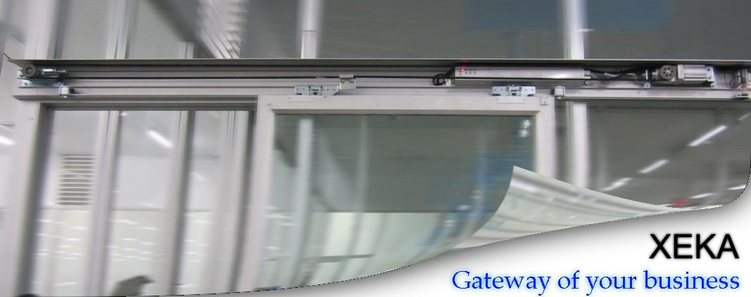 ประตูบานเลื่อนอัตโนมัติ auto slide door XEKA